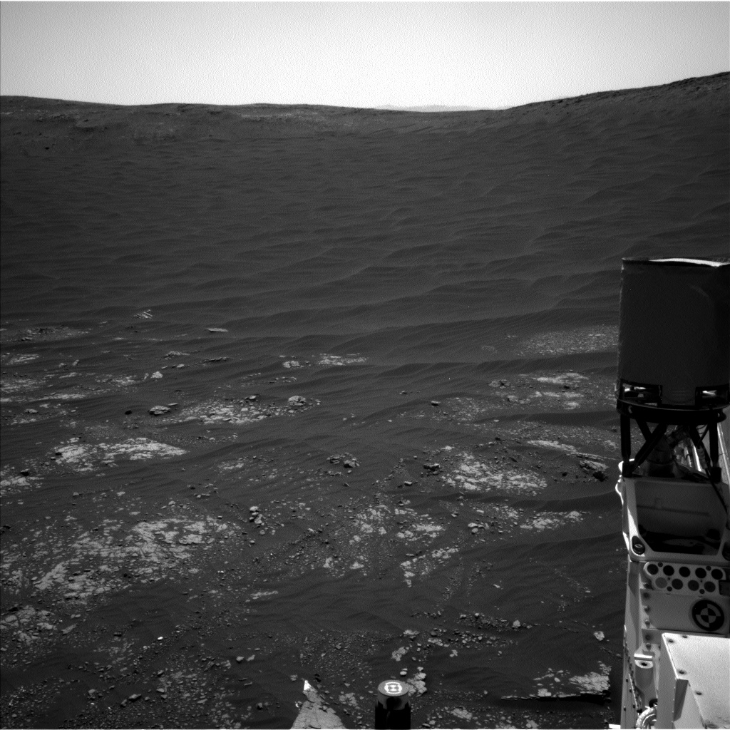 Nasa's Mars rover Curiosity acquired this image using its Left Navigation Camera on Sol 2412, at drive 1916, site number 75