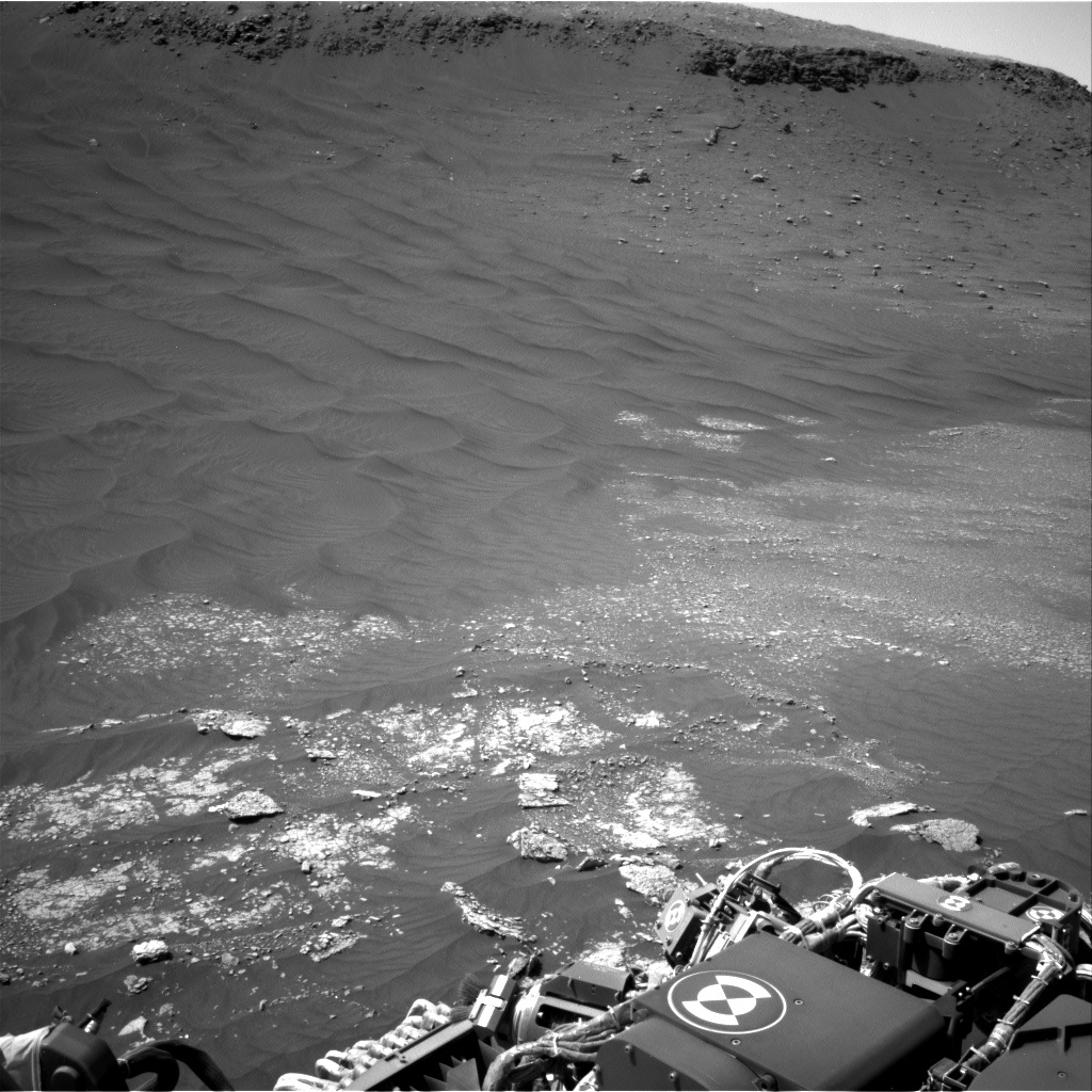 NASA's Mars rover Curiosity acquired this image using its Right Navigation Cameras (Navcams) on Sol 2412