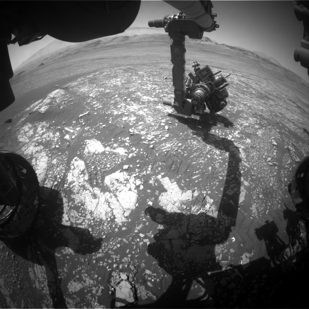 Nasa's Mars rover Curiosity acquired this image using its Front Hazard Avoidance Camera (Front Hazcam) on Sol 2413, at drive 1916, site number 75