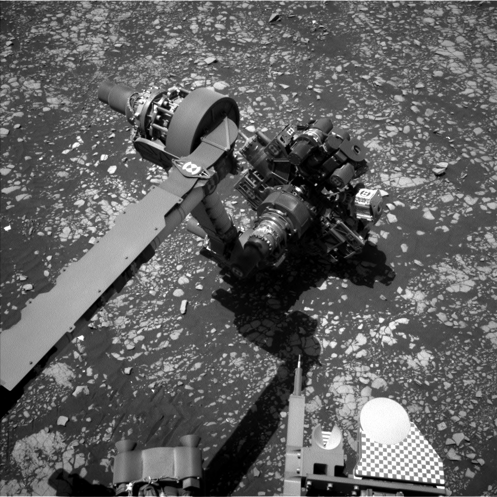 Nasa's Mars rover Curiosity acquired this image using its Left Navigation Camera on Sol 2413, at drive 1916, site number 75
