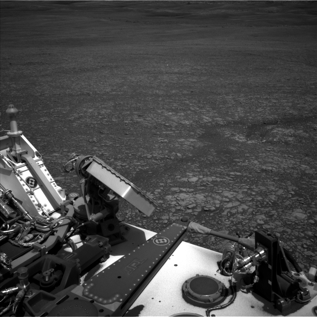 Nasa's Mars rover Curiosity acquired this image using its Left Navigation Camera on Sol 2413, at drive 2004, site number 75