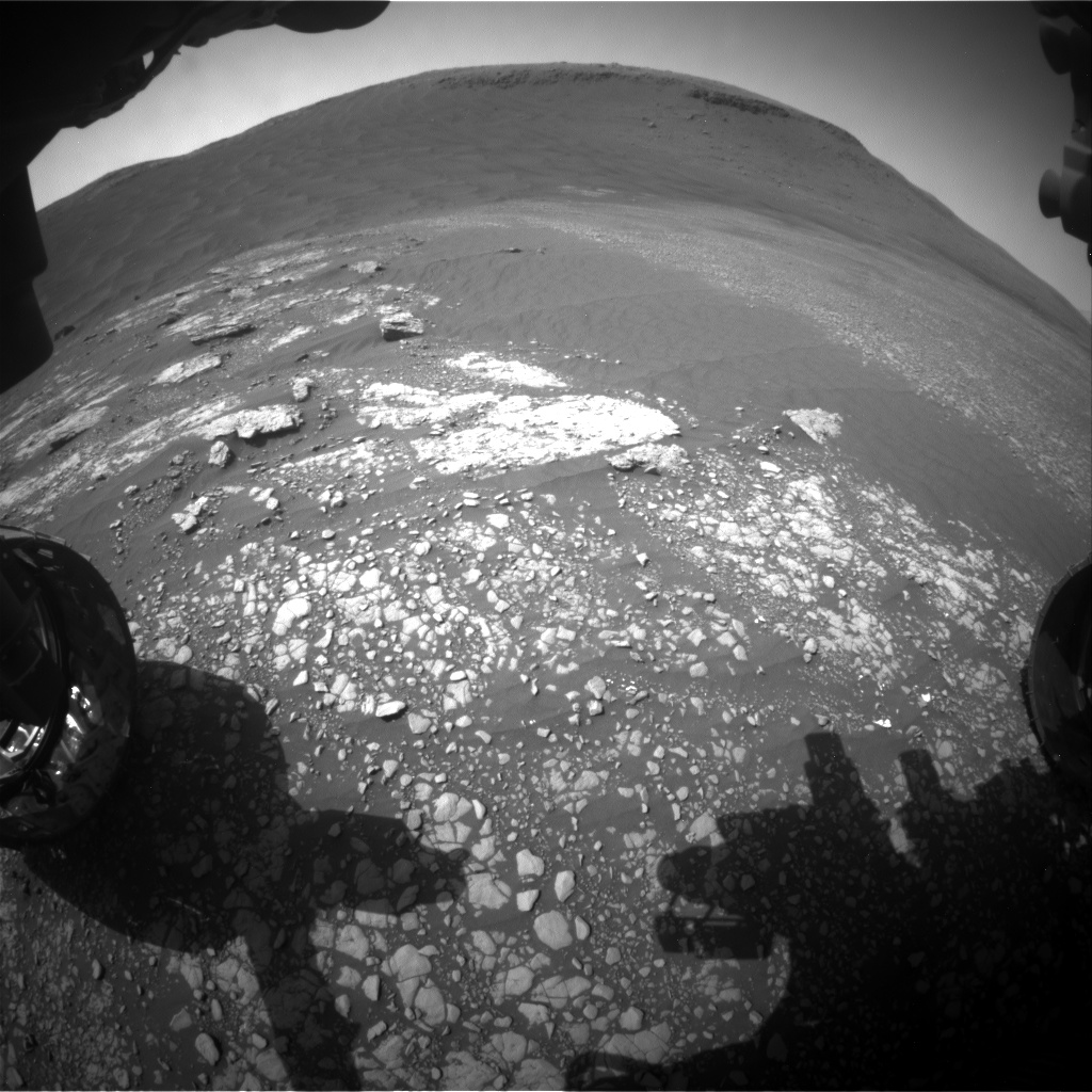 Nasa's Mars rover Curiosity acquired this image using its Front Hazard Avoidance Camera (Front Hazcam) on Sol 2414, at drive 2052, site number 75