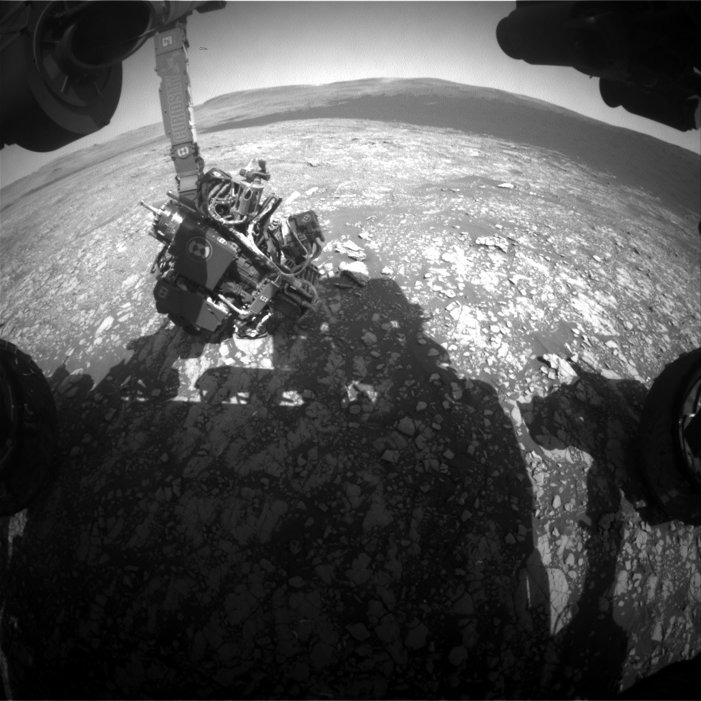 Nasa's Mars rover Curiosity acquired this image using its Front Hazard Avoidance Camera (Front Hazcam) on Sol 2414, at drive 2004, site number 75