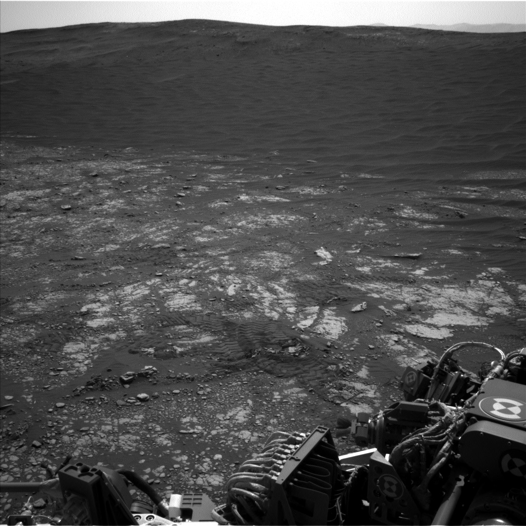 Nasa's Mars rover Curiosity acquired this image using its Left Navigation Camera on Sol 2414, at drive 2052, site number 75