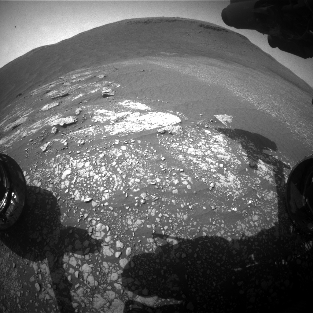 Nasa's Mars rover Curiosity acquired this image using its Front Hazard Avoidance Camera (Front Hazcam) on Sol 2415, at drive 2052, site number 75