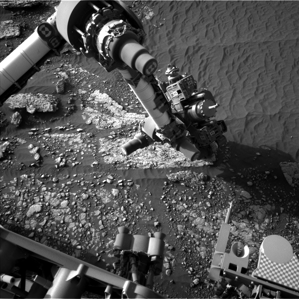 Nasa's Mars rover Curiosity acquired this image using its Left Navigation Camera on Sol 2415, at drive 2052, site number 75