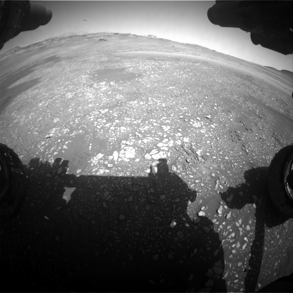 Nasa's Mars rover Curiosity acquired this image using its Front Hazard Avoidance Camera (Front Hazcam) on Sol 2417, at drive 2332, site number 75
