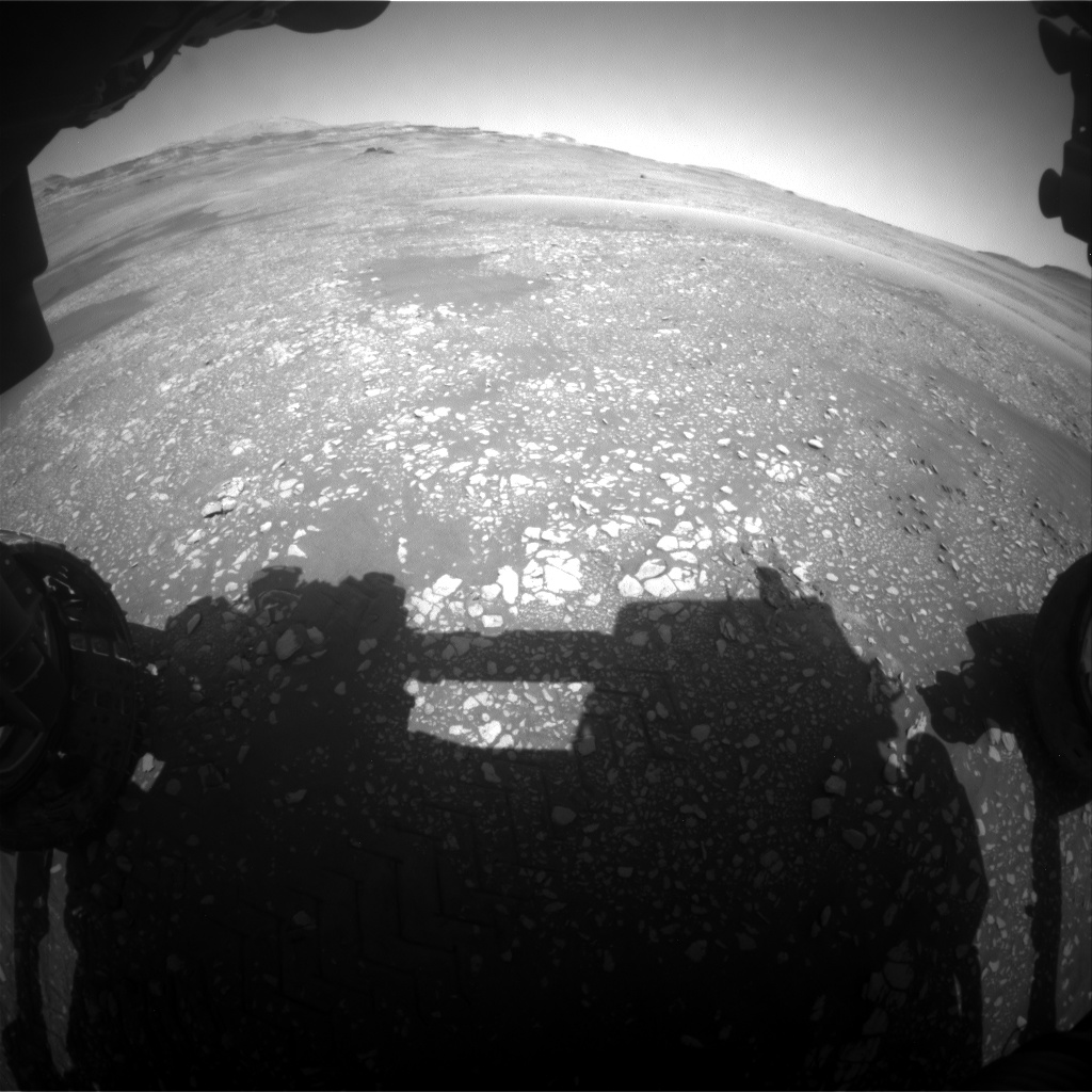 Nasa's Mars rover Curiosity acquired this image using its Front Hazard Avoidance Camera (Front Hazcam) on Sol 2418, at drive 2332, site number 75