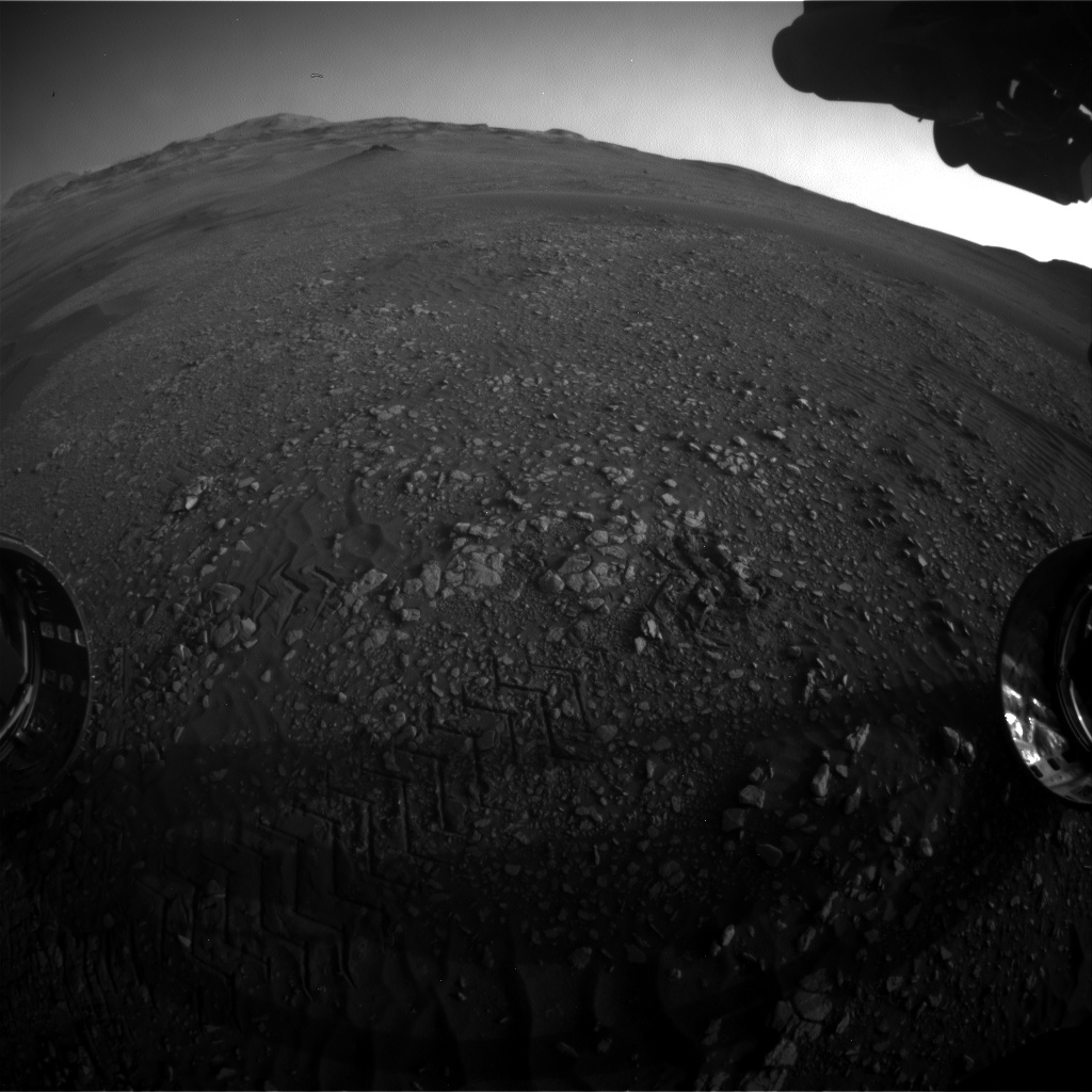 Nasa's Mars rover Curiosity acquired this image using its Front Hazard Avoidance Camera (Front Hazcam) on Sol 2419, at drive 2332, site number 75