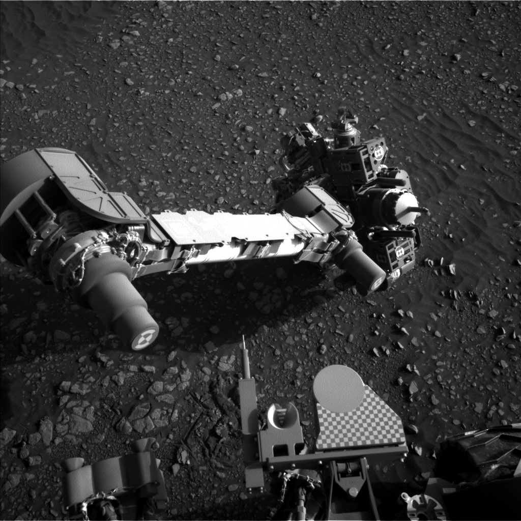 Nasa's Mars rover Curiosity acquired this image using its Left Navigation Camera on Sol 2419, at drive 2332, site number 75