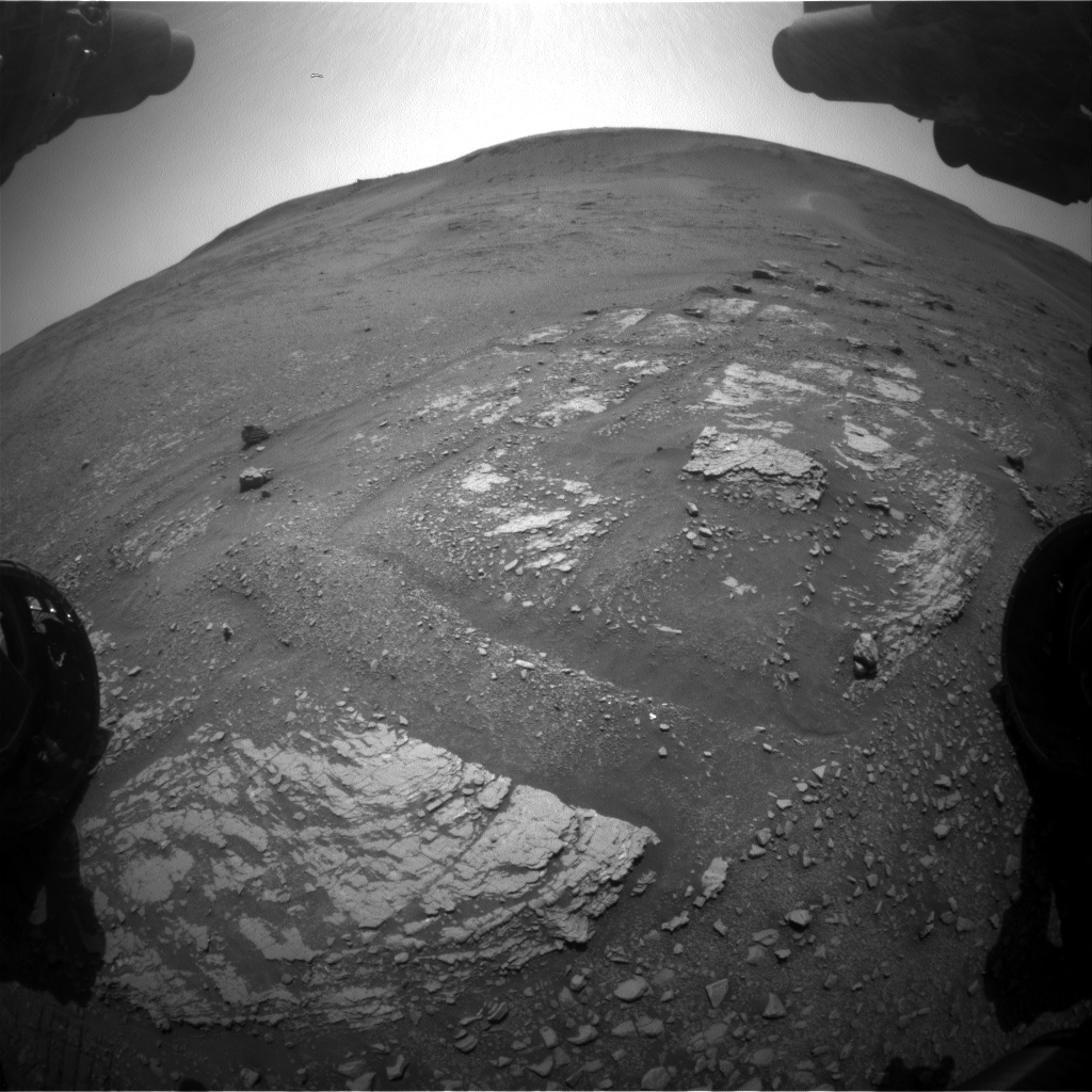 Nasa's Mars rover Curiosity acquired this image using its Front Hazard Avoidance Camera (Front Hazcam) on Sol 2420, at drive 2770, site number 75