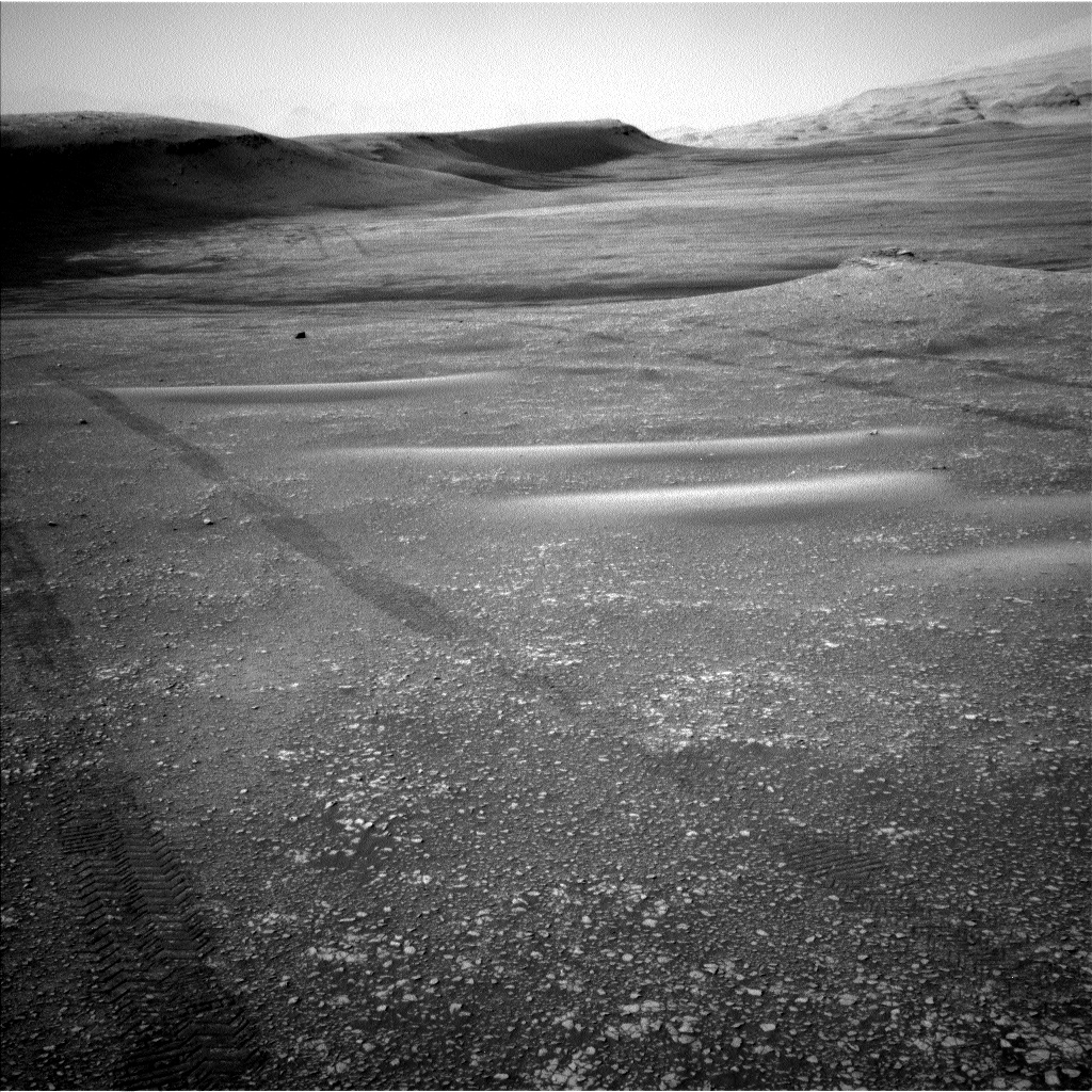 Nasa's Mars rover Curiosity acquired this image using its Left Navigation Camera on Sol 2420, at drive 2770, site number 75