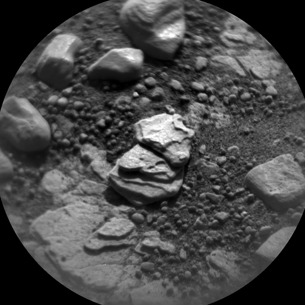 Nasa's Mars rover Curiosity acquired this image using its Chemistry & Camera (ChemCam) on Sol 2420, at drive 2770, site number 75