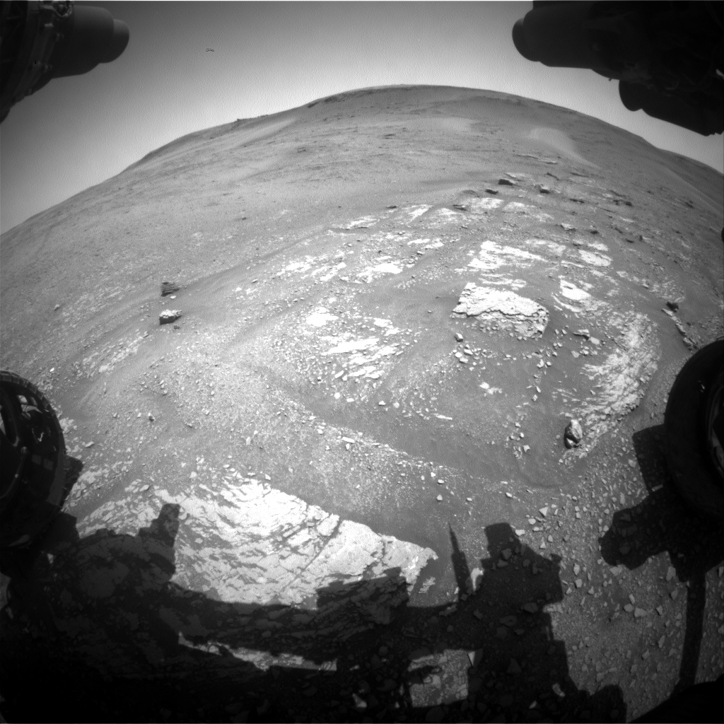 Nasa's Mars rover Curiosity acquired this image using its Front Hazard Avoidance Camera (Front Hazcam) on Sol 2421, at drive 2770, site number 75