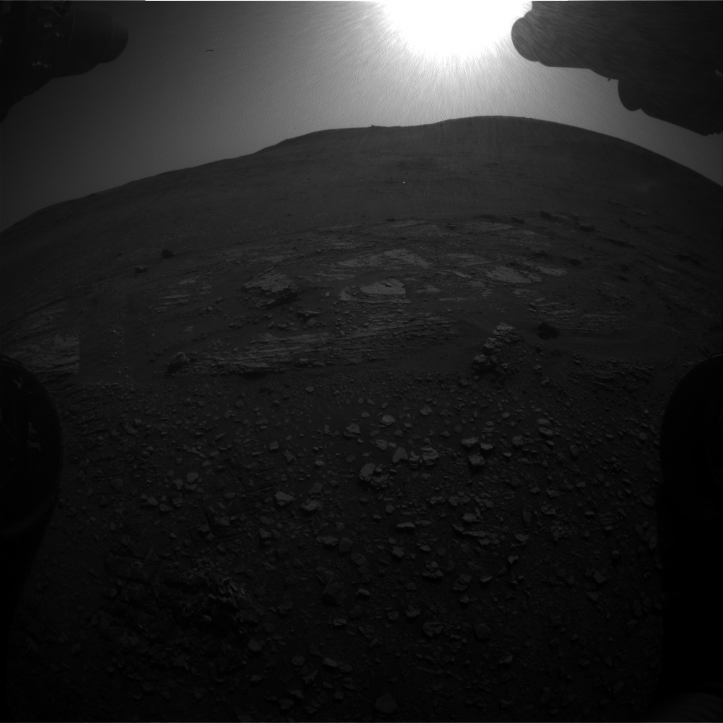 Nasa's Mars rover Curiosity acquired this image using its Front Hazard Avoidance Camera (Front Hazcam) on Sol 2422, at drive 2860, site number 75