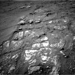 Nasa's Mars rover Curiosity acquired this image using its Left Navigation Camera on Sol 2422, at drive 2800, site number 75