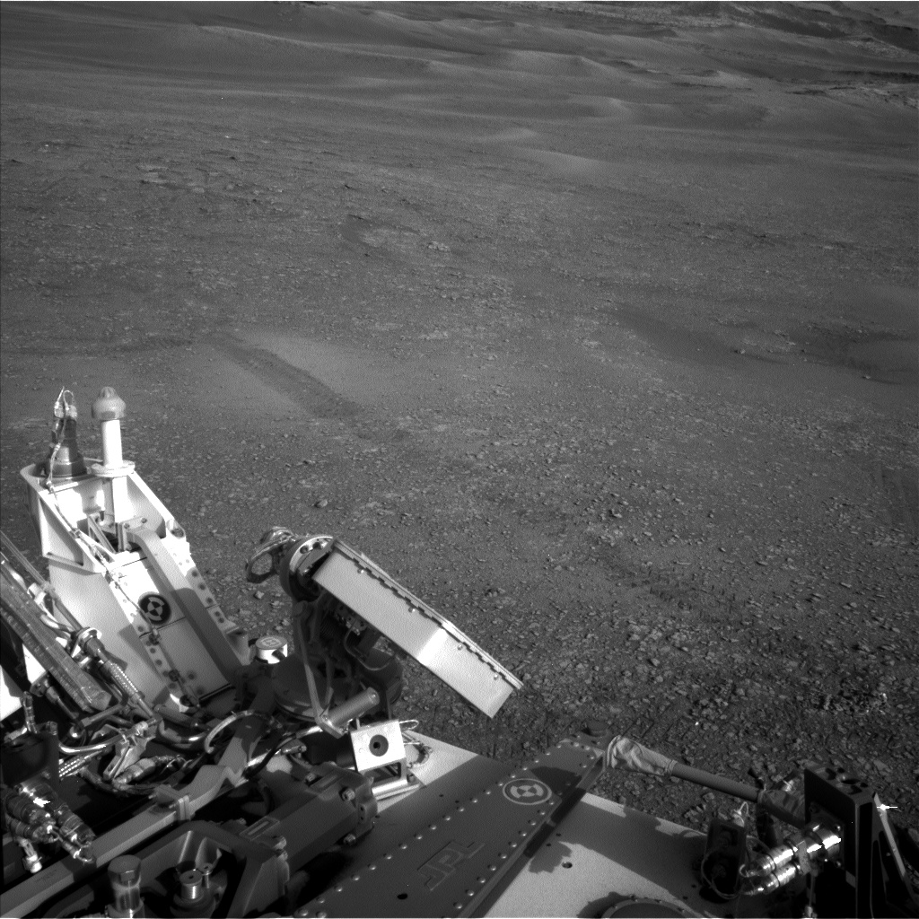 Nasa's Mars rover Curiosity acquired this image using its Left Navigation Camera on Sol 2422, at drive 2860, site number 75