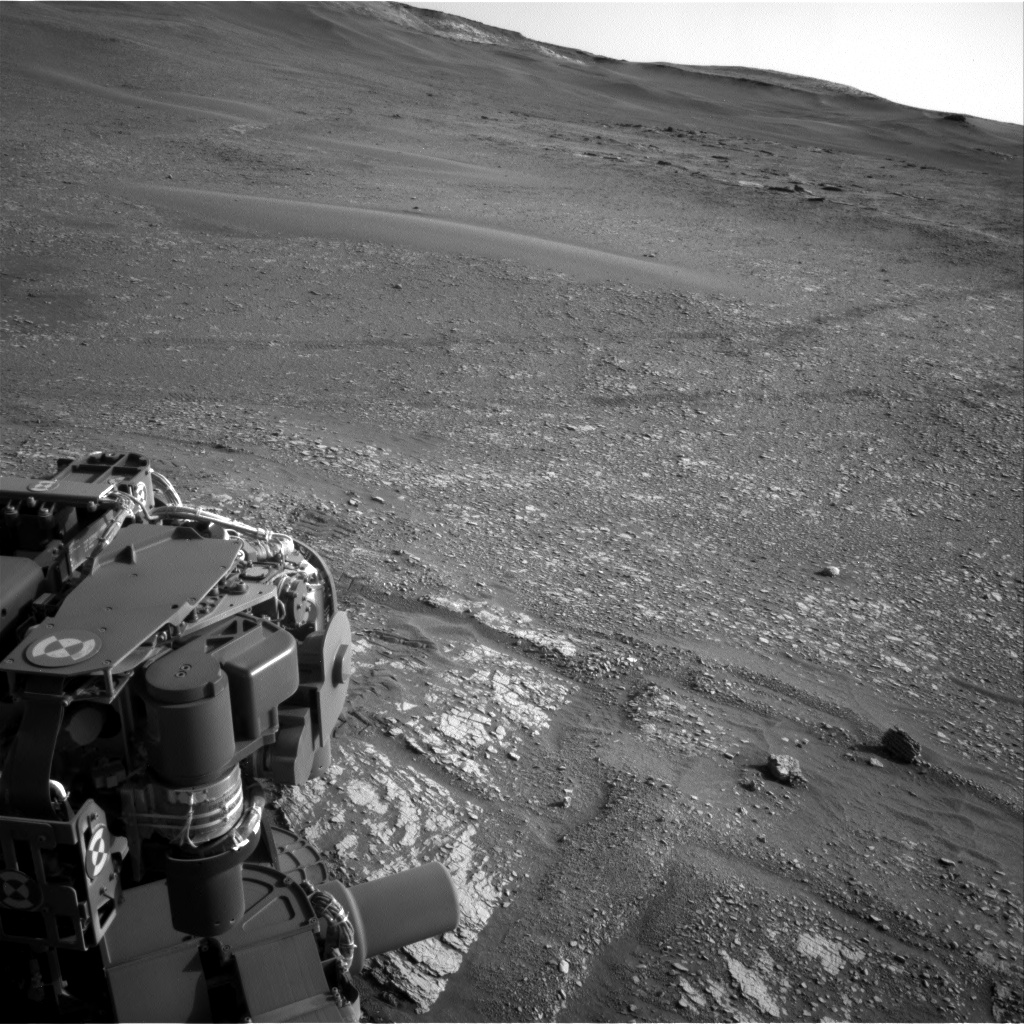 Nasa's Mars rover Curiosity acquired this image using its Right Navigation Camera on Sol 2422, at drive 2860, site number 75
