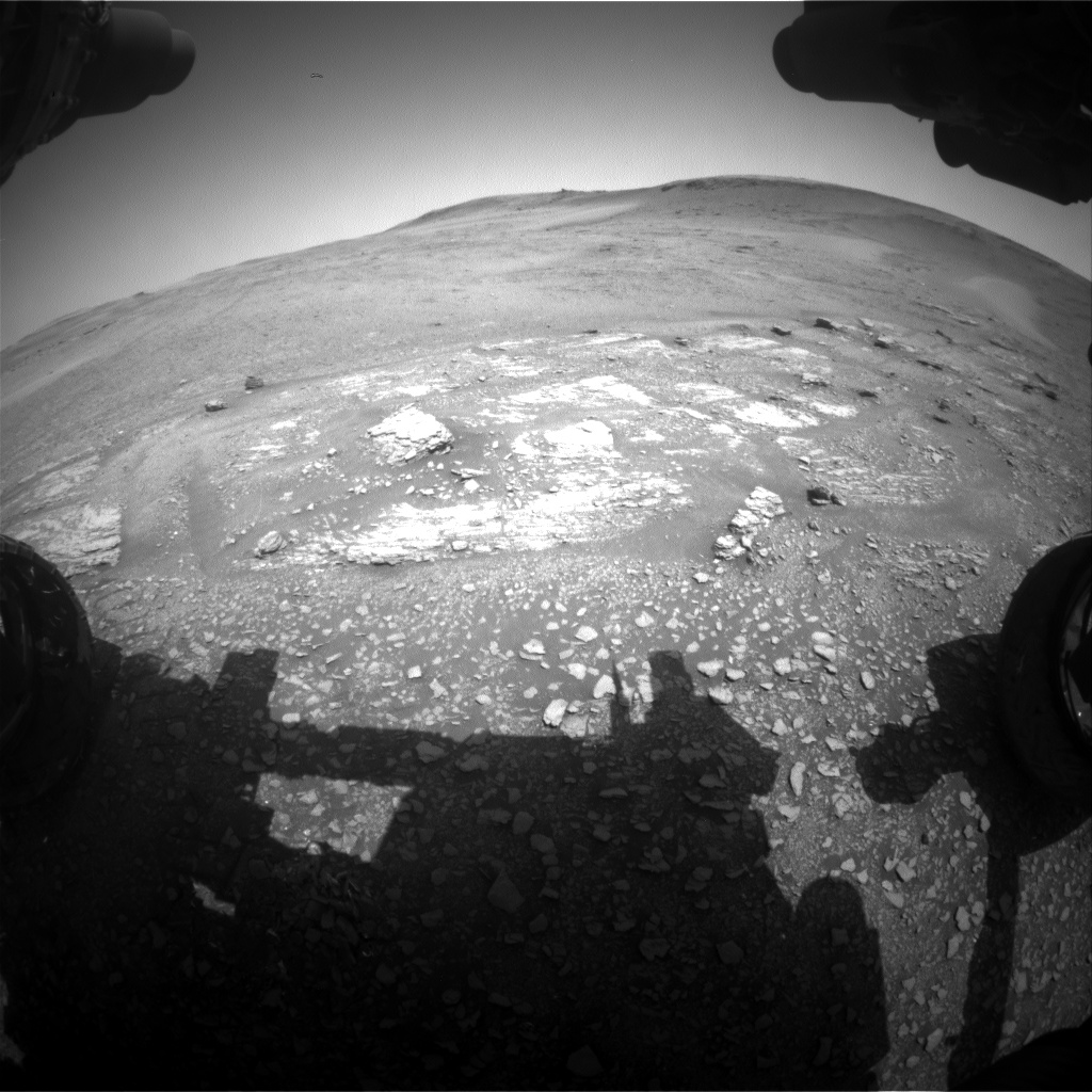 Nasa's Mars rover Curiosity acquired this image using its Front Hazard Avoidance Camera (Front Hazcam) on Sol 2423, at drive 2860, site number 75
