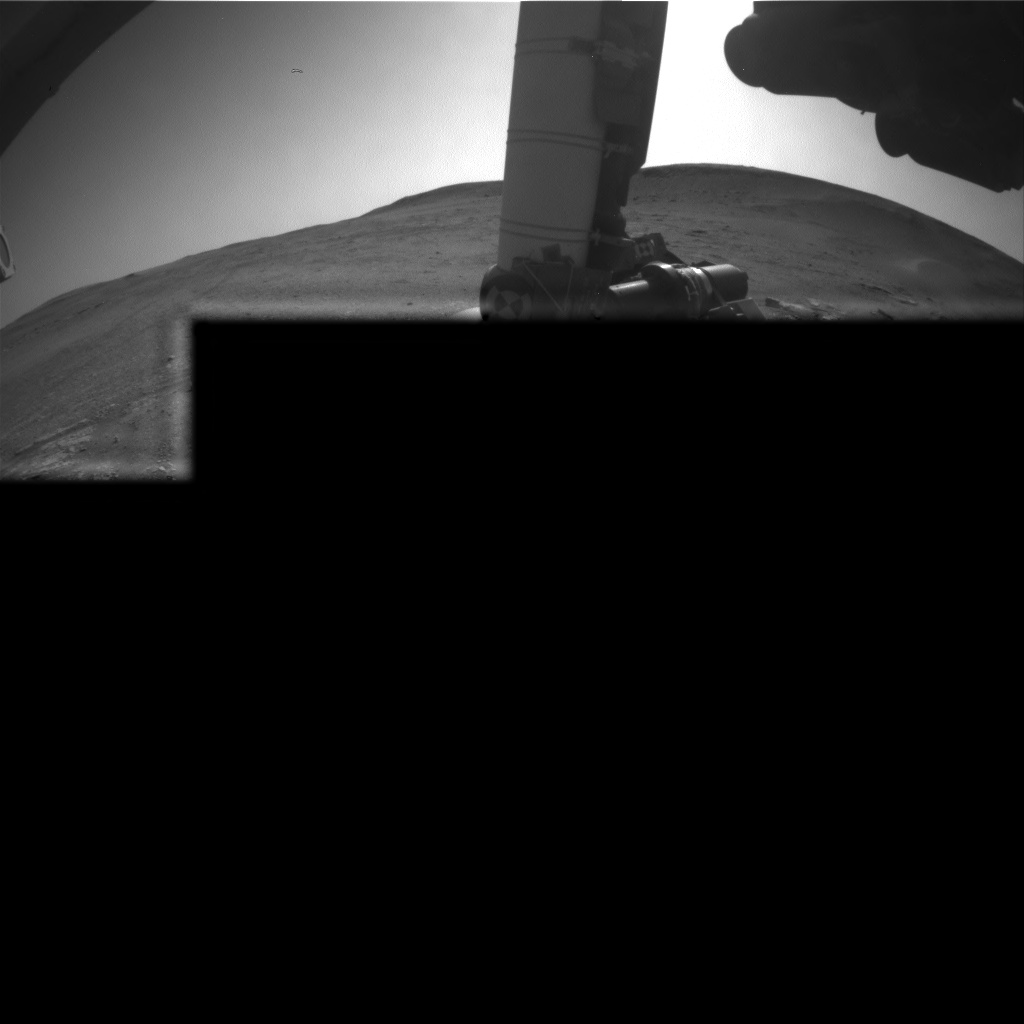 Nasa's Mars rover Curiosity acquired this image using its Front Hazard Avoidance Camera (Front Hazcam) on Sol 2424, at drive 2860, site number 75