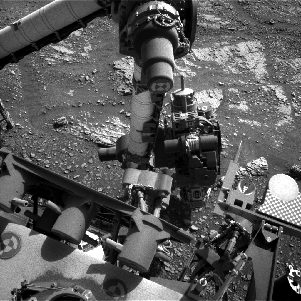 Nasa's Mars rover Curiosity acquired this image using its Left Navigation Camera on Sol 2424, at drive 2860, site number 75