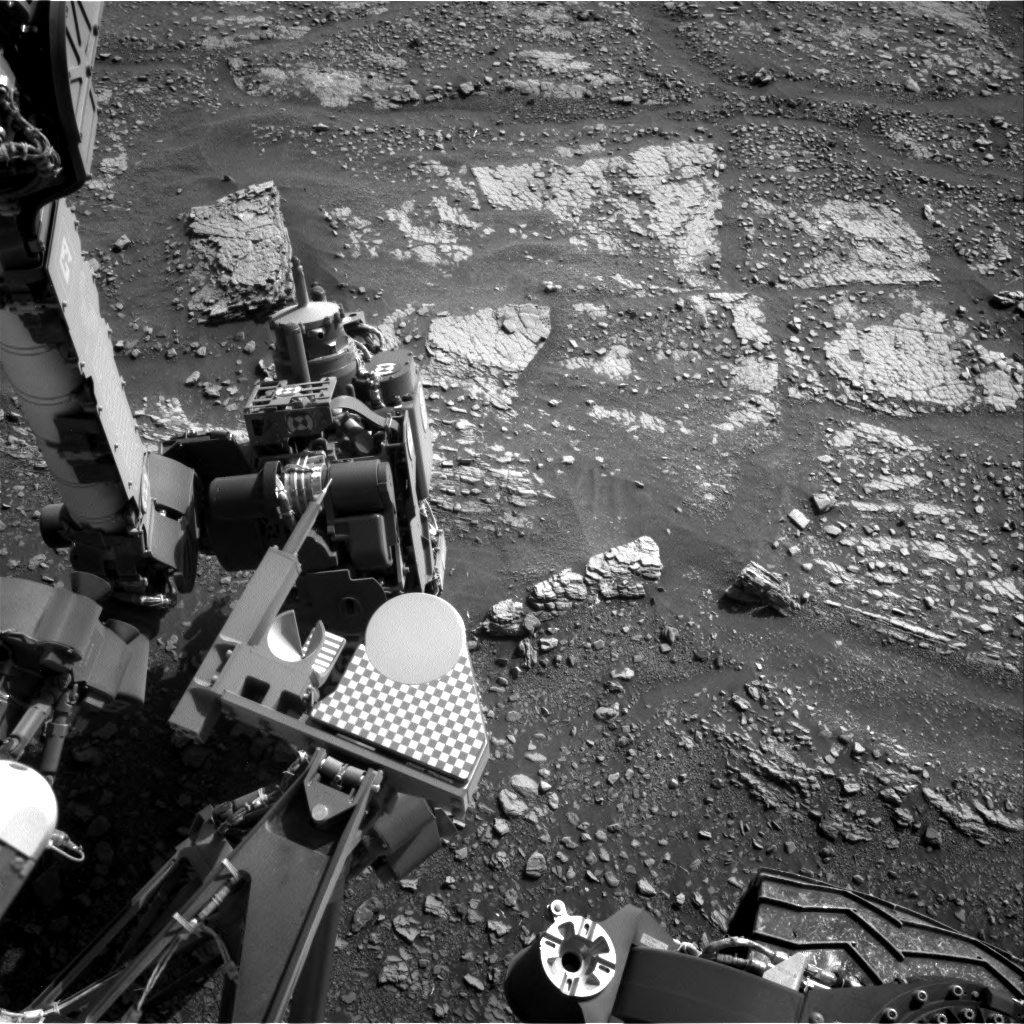Nasa's Mars rover Curiosity acquired this image using its Right Navigation Camera on Sol 2424, at drive 2860, site number 75