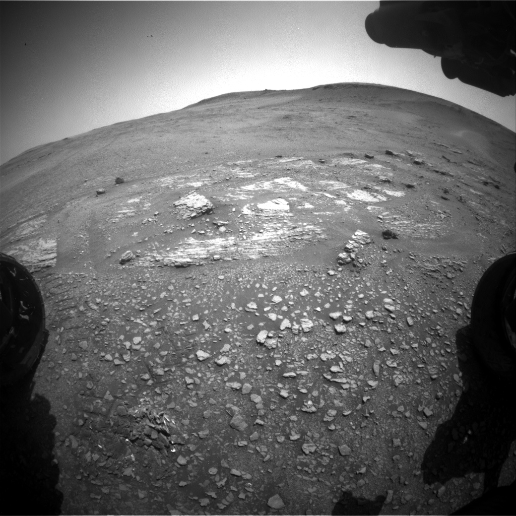 Nasa's Mars rover Curiosity acquired this image using its Front Hazard Avoidance Camera (Front Hazcam) on Sol 2425, at drive 2860, site number 75