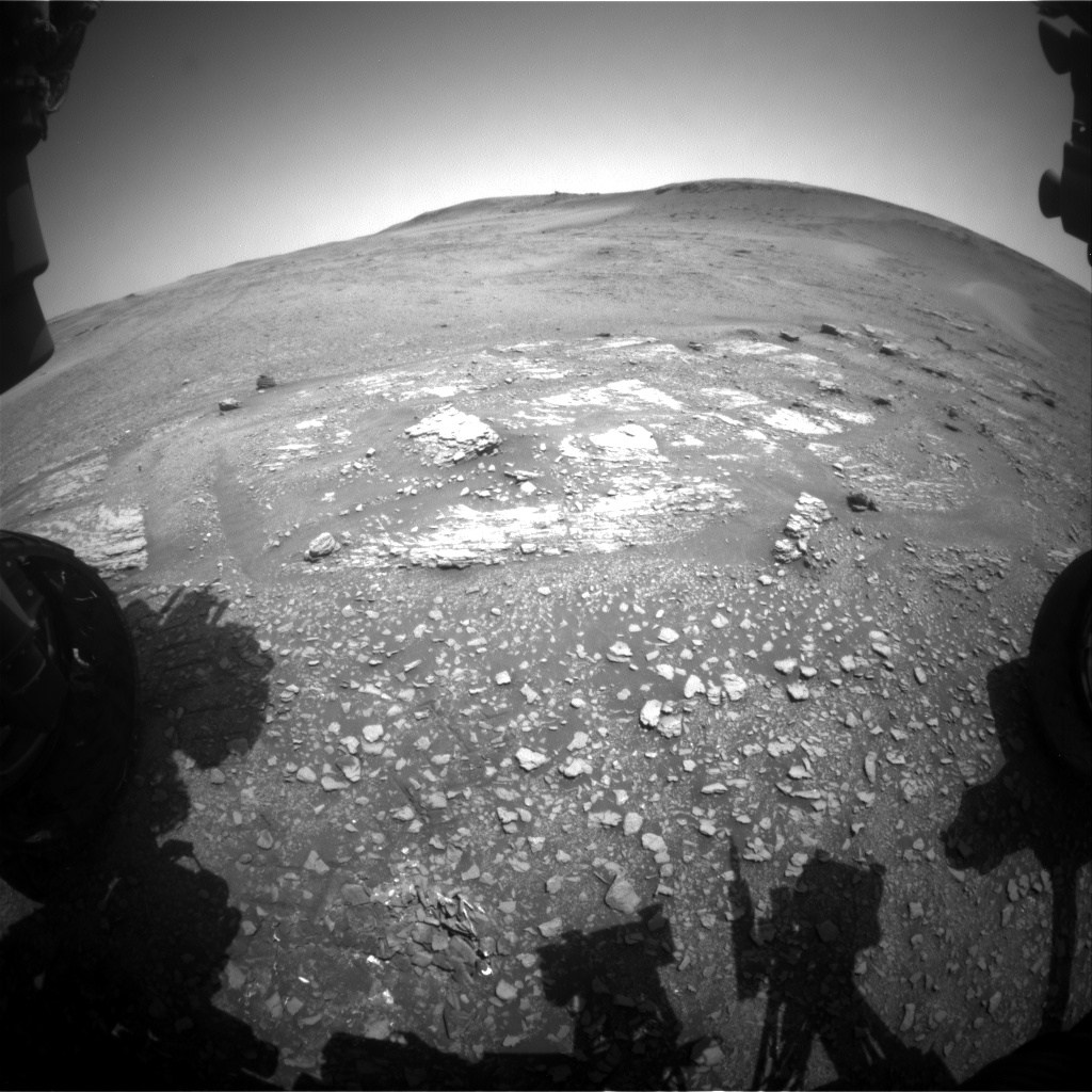 Nasa's Mars rover Curiosity acquired this image using its Front Hazard Avoidance Camera (Front Hazcam) on Sol 2426, at drive 2860, site number 75