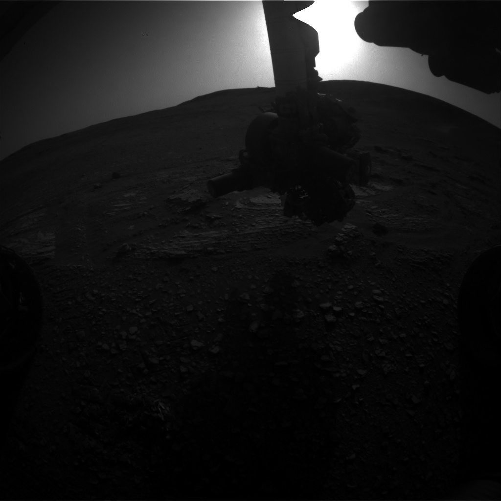 Nasa's Mars rover Curiosity acquired this image using its Front Hazard Avoidance Camera (Front Hazcam) on Sol 2427, at drive 2860, site number 75