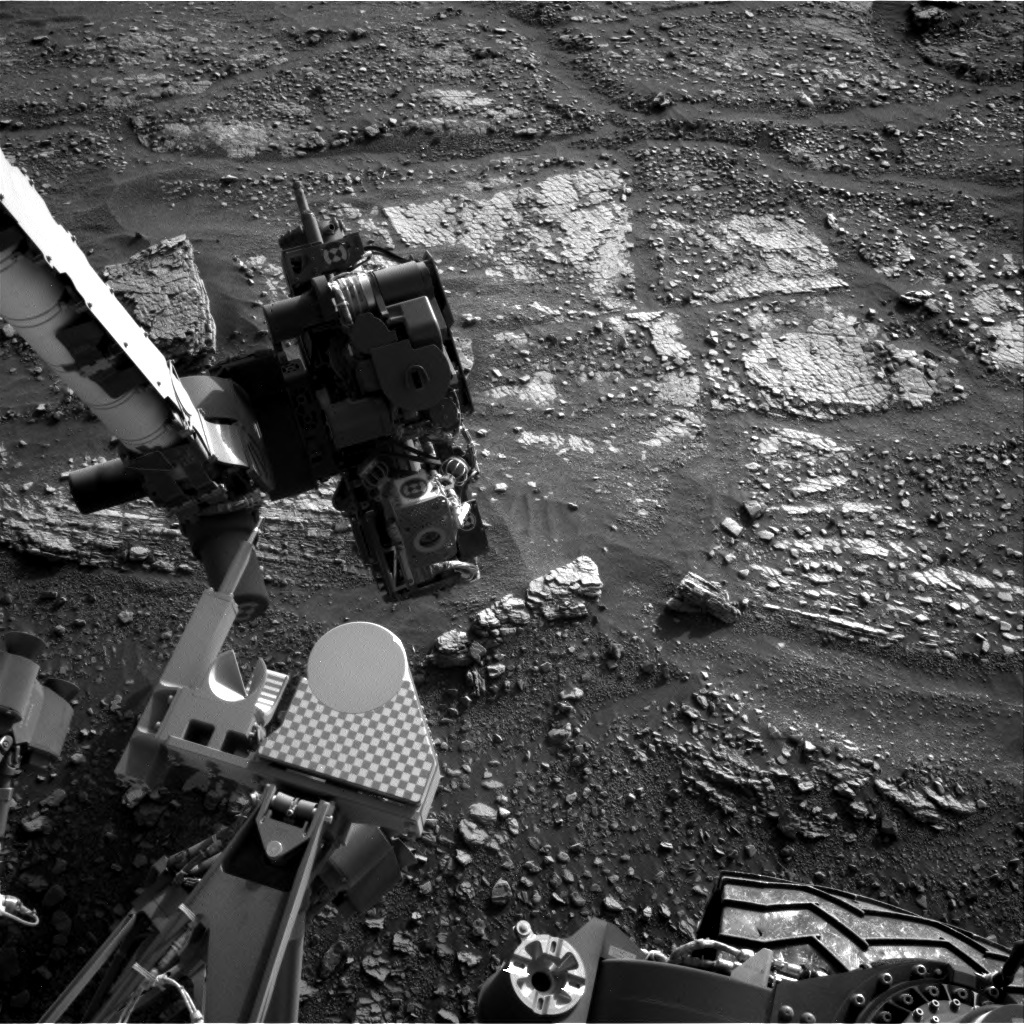 NASA's Mars rover Curiosity acquired this image using its Right Navigation Cameras (Navcams) on Sol 2427
