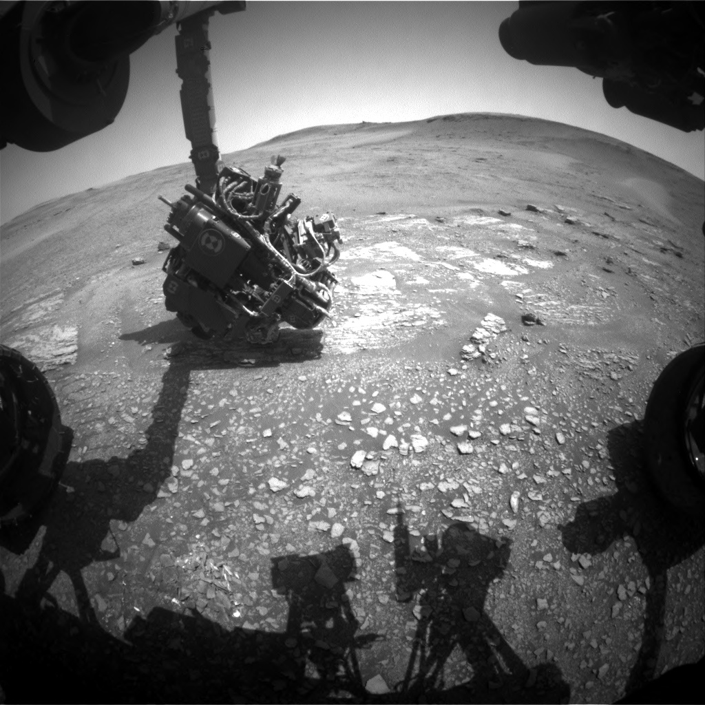 Nasa's Mars rover Curiosity acquired this image using its Front Hazard Avoidance Camera (Front Hazcam) on Sol 2429, at drive 2860, site number 75