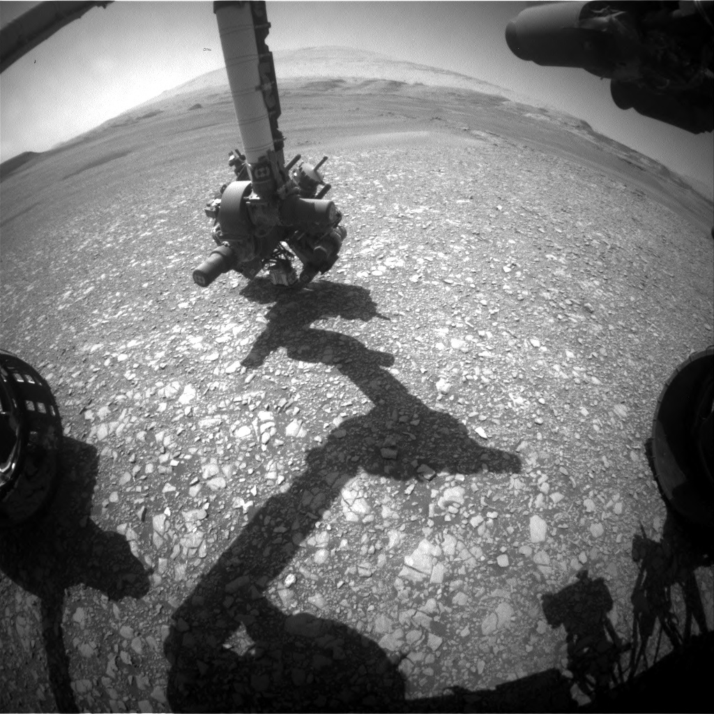 Nasa's Mars rover Curiosity acquired this image using its Front Hazard Avoidance Camera (Front Hazcam) on Sol 2432, at drive 0, site number 76