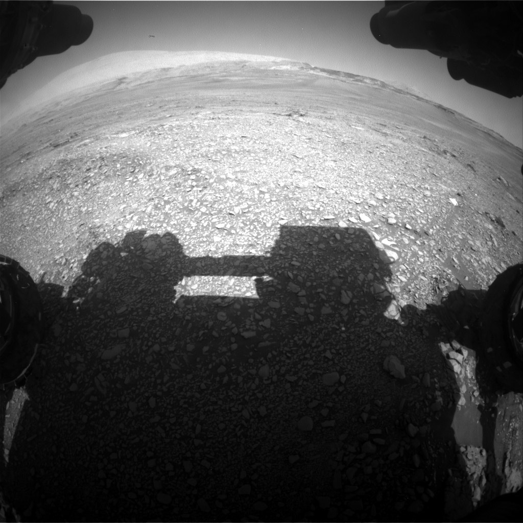 Nasa's Mars rover Curiosity acquired this image using its Front Hazard Avoidance Camera (Front Hazcam) on Sol 2432, at drive 274, site number 76