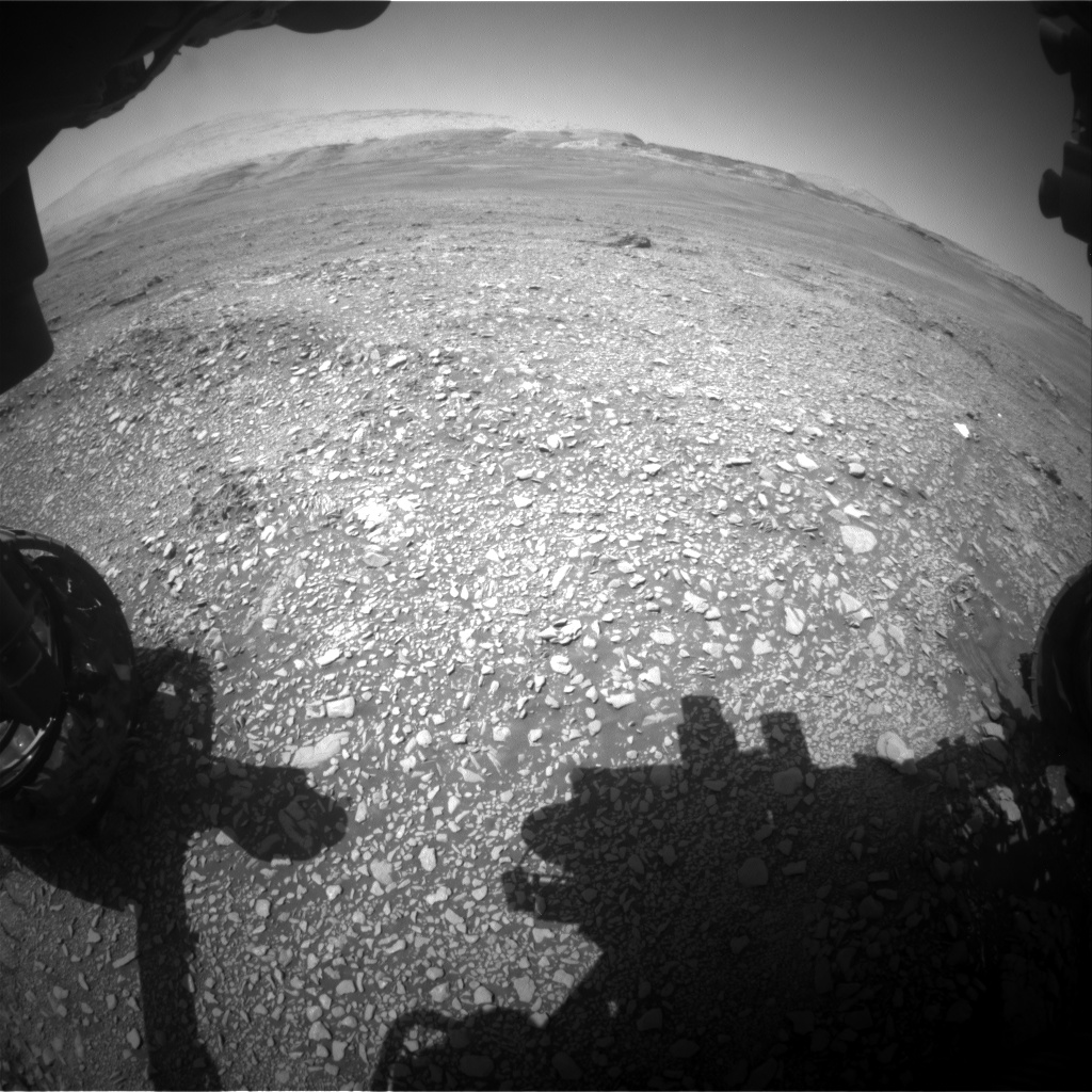 Nasa's Mars rover Curiosity acquired this image using its Front Hazard Avoidance Camera (Front Hazcam) on Sol 2433, at drive 274, site number 76