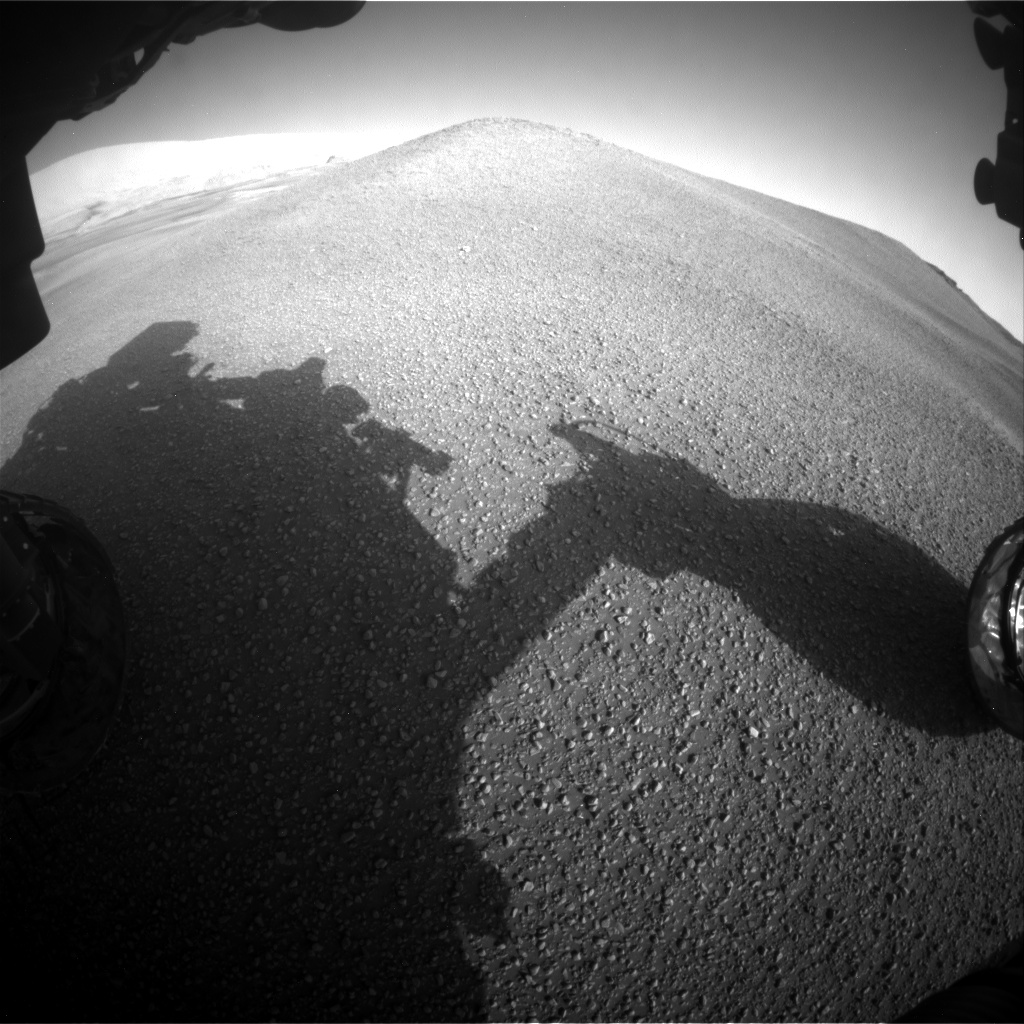Nasa's Mars rover Curiosity acquired this image using its Front Hazard Avoidance Camera (Front Hazcam) on Sol 2434, at drive 568, site number 76