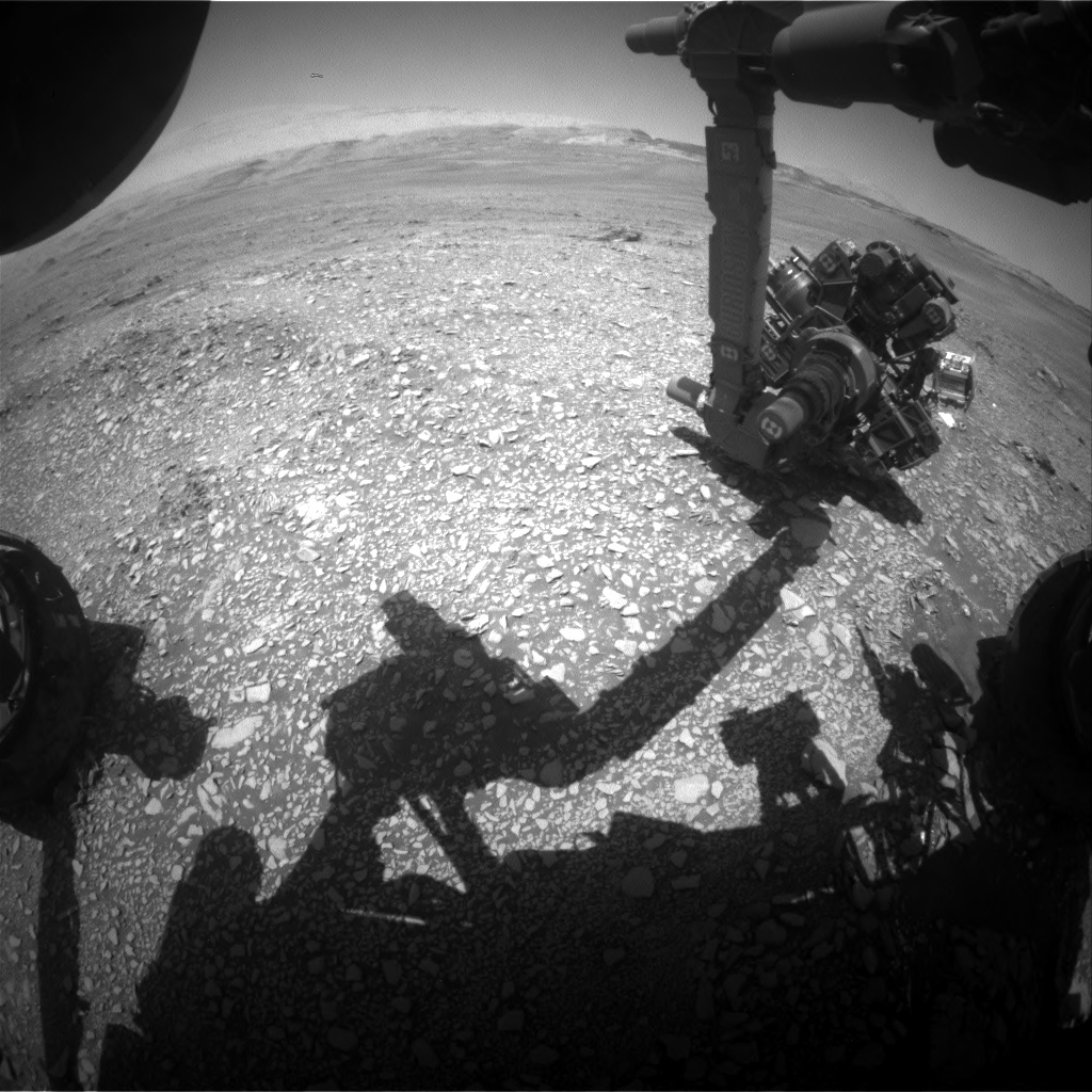 Nasa's Mars rover Curiosity acquired this image using its Front Hazard Avoidance Camera (Front Hazcam) on Sol 2434, at drive 274, site number 76