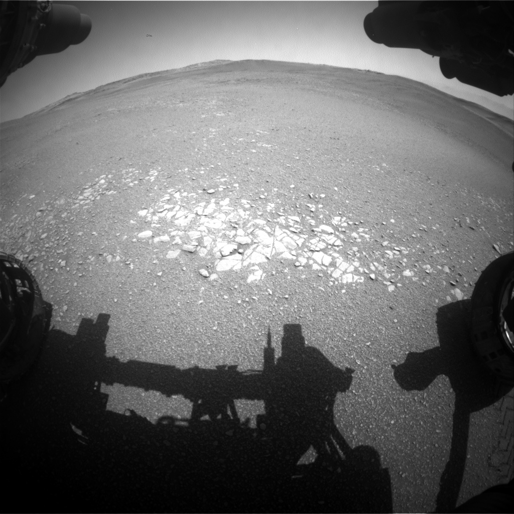 Nasa's Mars rover Curiosity acquired this image using its Front Hazard Avoidance Camera (Front Hazcam) on Sol 2436, at drive 832, site number 76