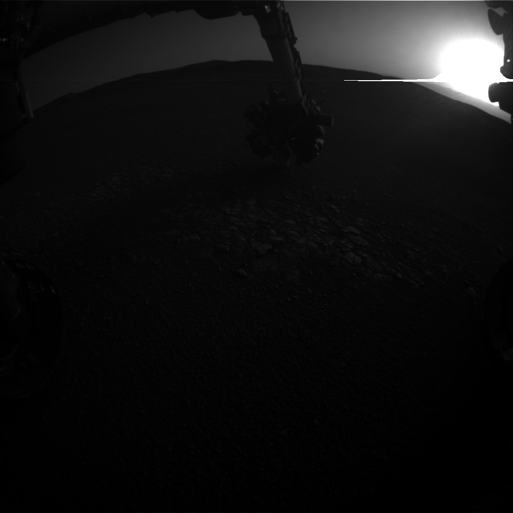 Nasa's Mars rover Curiosity acquired this image using its Front Hazard Avoidance Camera (Front Hazcam) on Sol 2437, at drive 832, site number 76