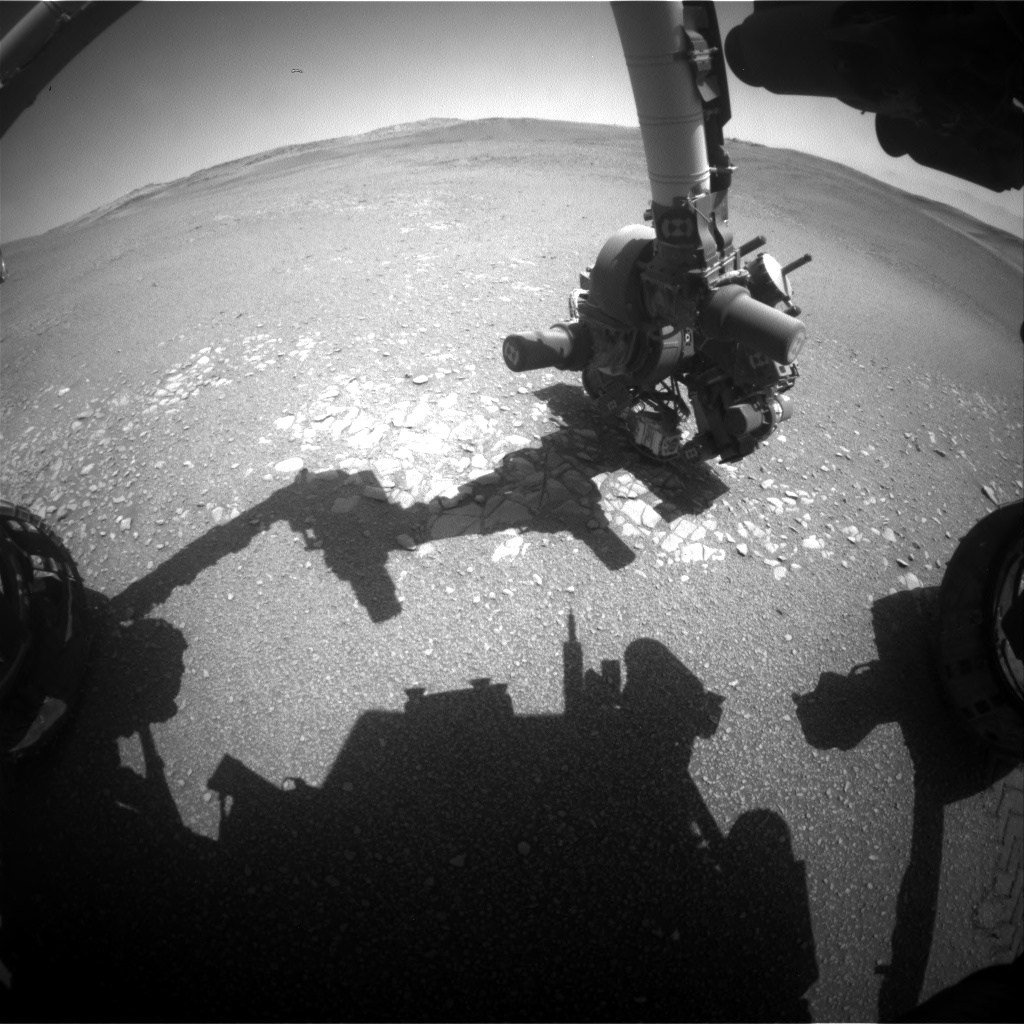 Nasa's Mars rover Curiosity acquired this image using its Front Hazard Avoidance Camera (Front Hazcam) on Sol 2438, at drive 832, site number 76