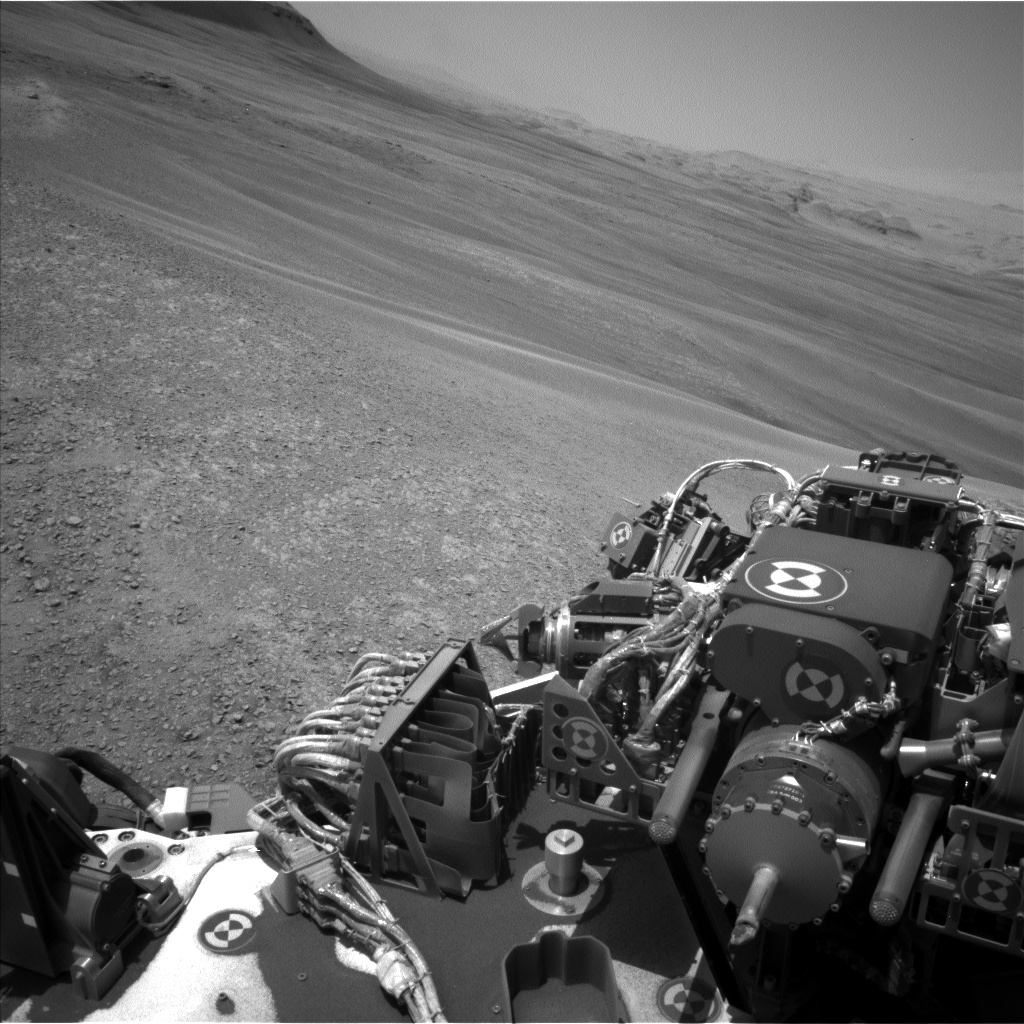 Nasa's Mars rover Curiosity acquired this image using its Left Navigation Camera on Sol 2439, at drive 988, site number 76