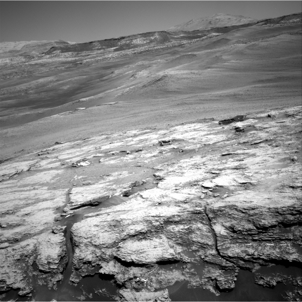 Nasa's Mars rover Curiosity acquired this image using its Right Navigation Camera on Sol 2439, at drive 988, site number 76