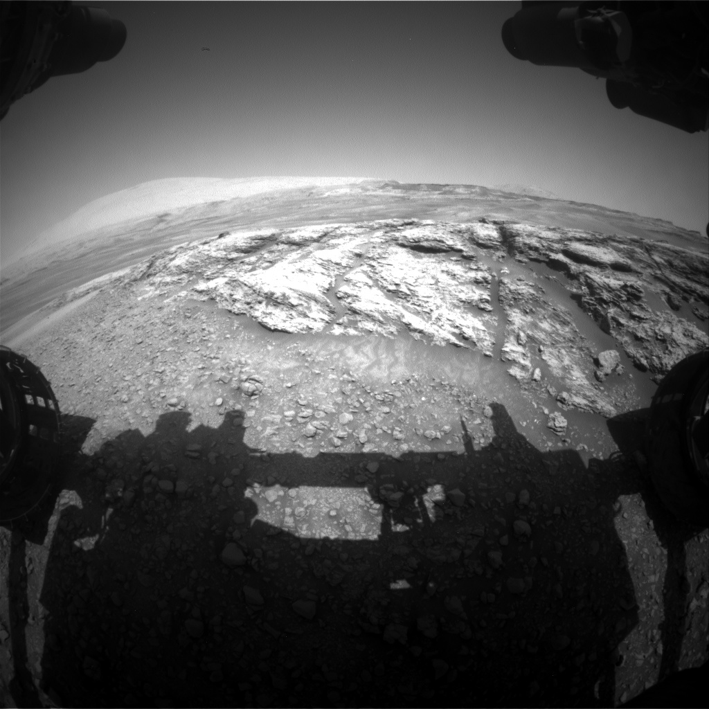 Nasa's Mars rover Curiosity acquired this image using its Front Hazard Avoidance Camera (Front Hazcam) on Sol 2440, at drive 988, site number 76