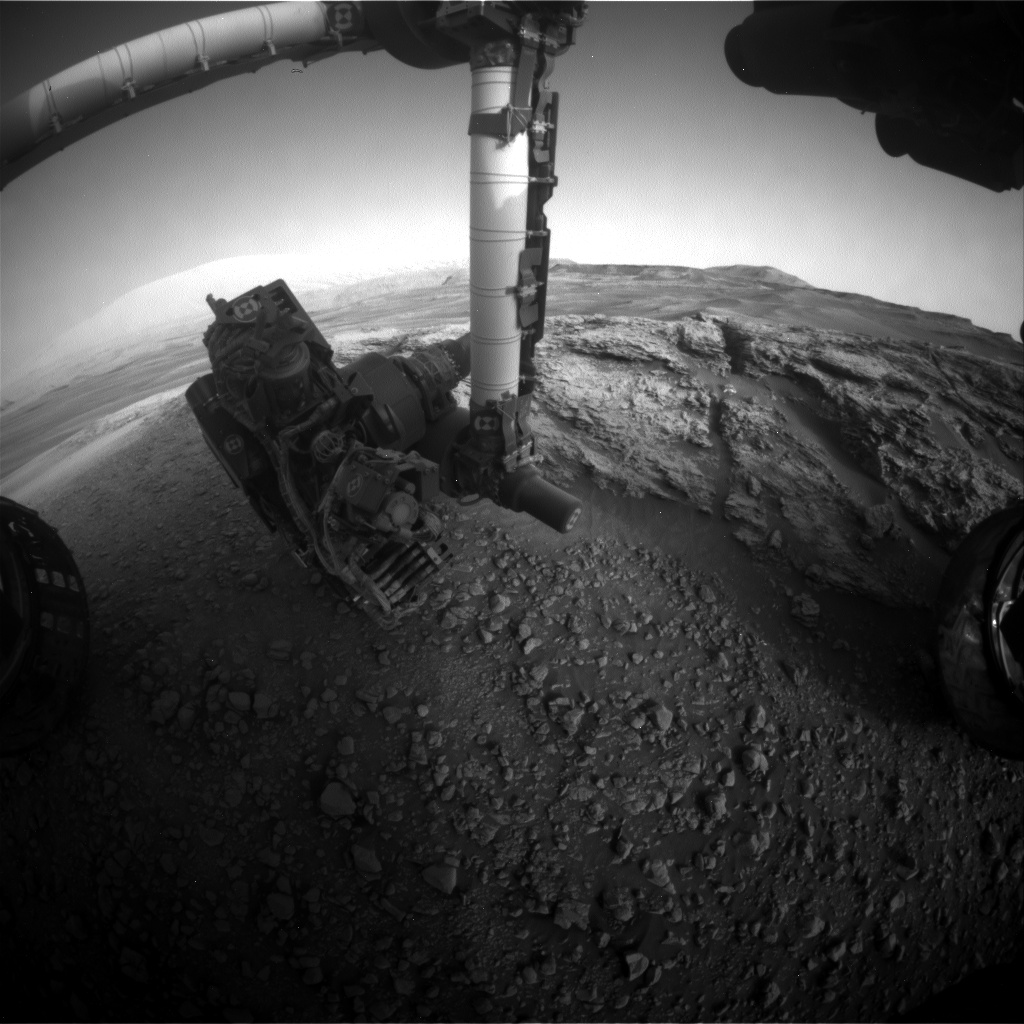 Nasa's Mars rover Curiosity acquired this image using its Front Hazard Avoidance Camera (Front Hazcam) on Sol 2441, at drive 988, site number 76