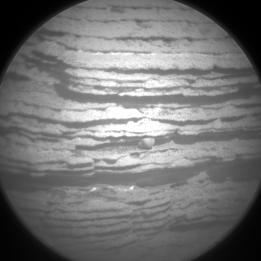 Nasa's Mars rover Curiosity acquired this image using its Chemistry & Camera (ChemCam) on Sol 2443, at drive 988, site number 76