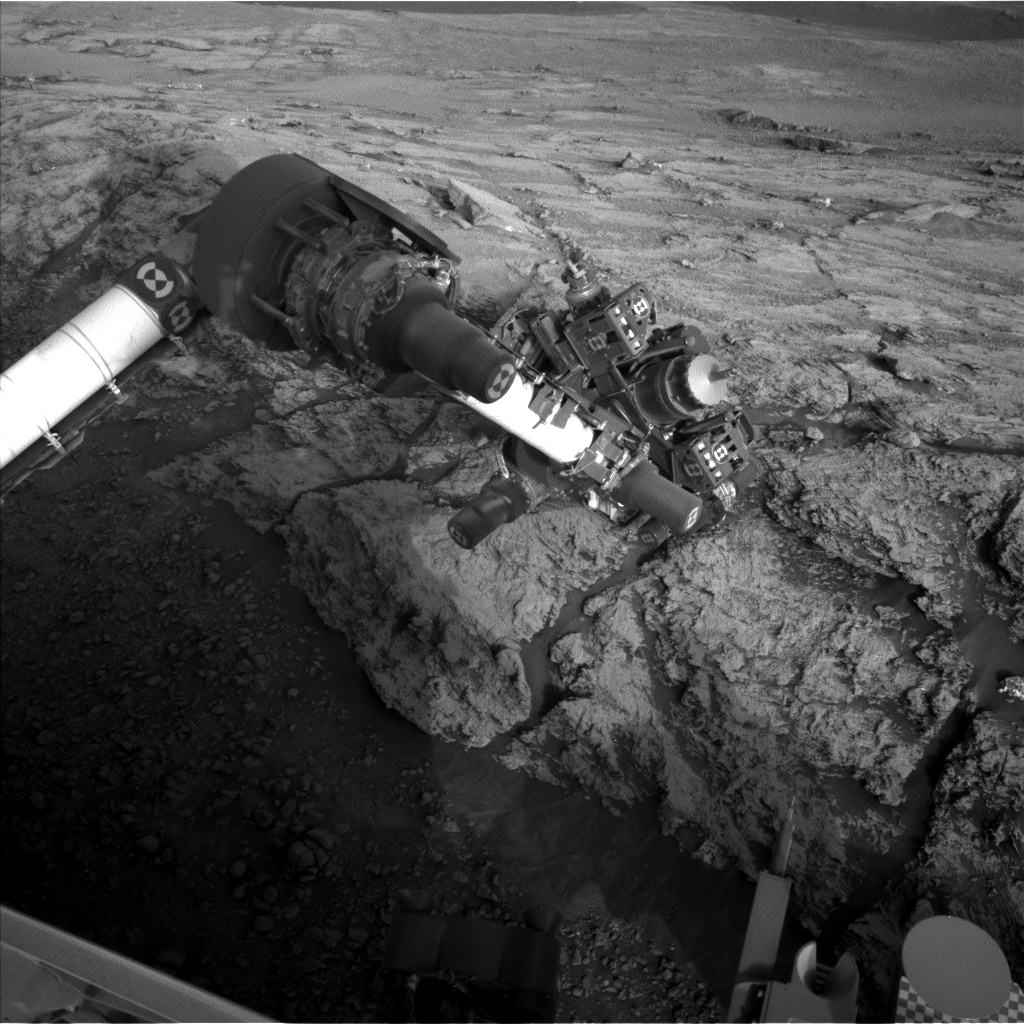 Nasa's Mars rover Curiosity acquired this image using its Left Navigation Camera on Sol 2443, at drive 988, site number 76