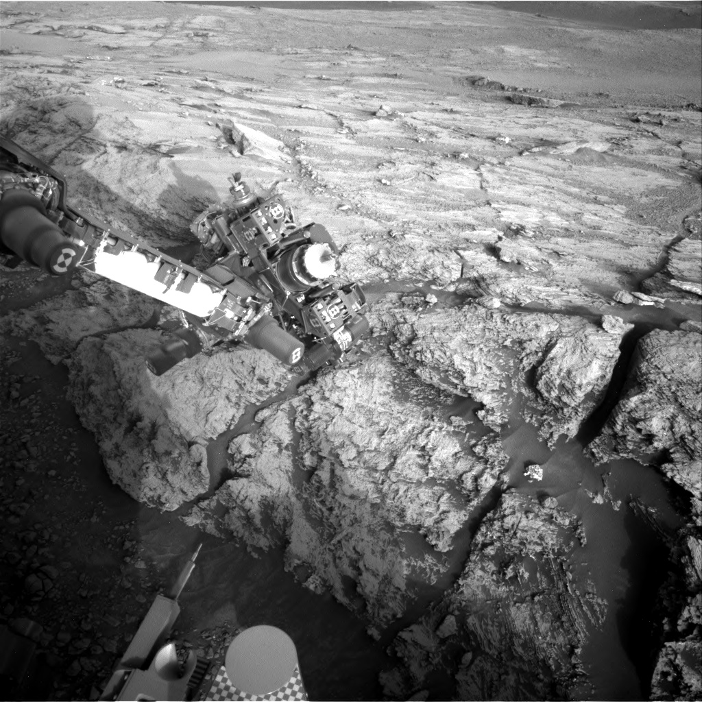Nasa's Mars rover Curiosity acquired this image using its Right Navigation Camera on Sol 2443, at drive 988, site number 76