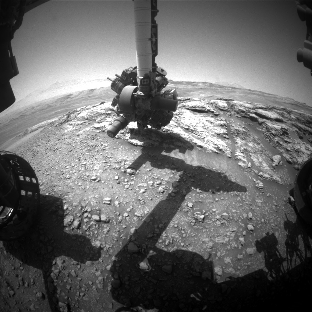 Nasa's Mars rover Curiosity acquired this image using its Front Hazard Avoidance Camera (Front Hazcam) on Sol 2444, at drive 988, site number 76