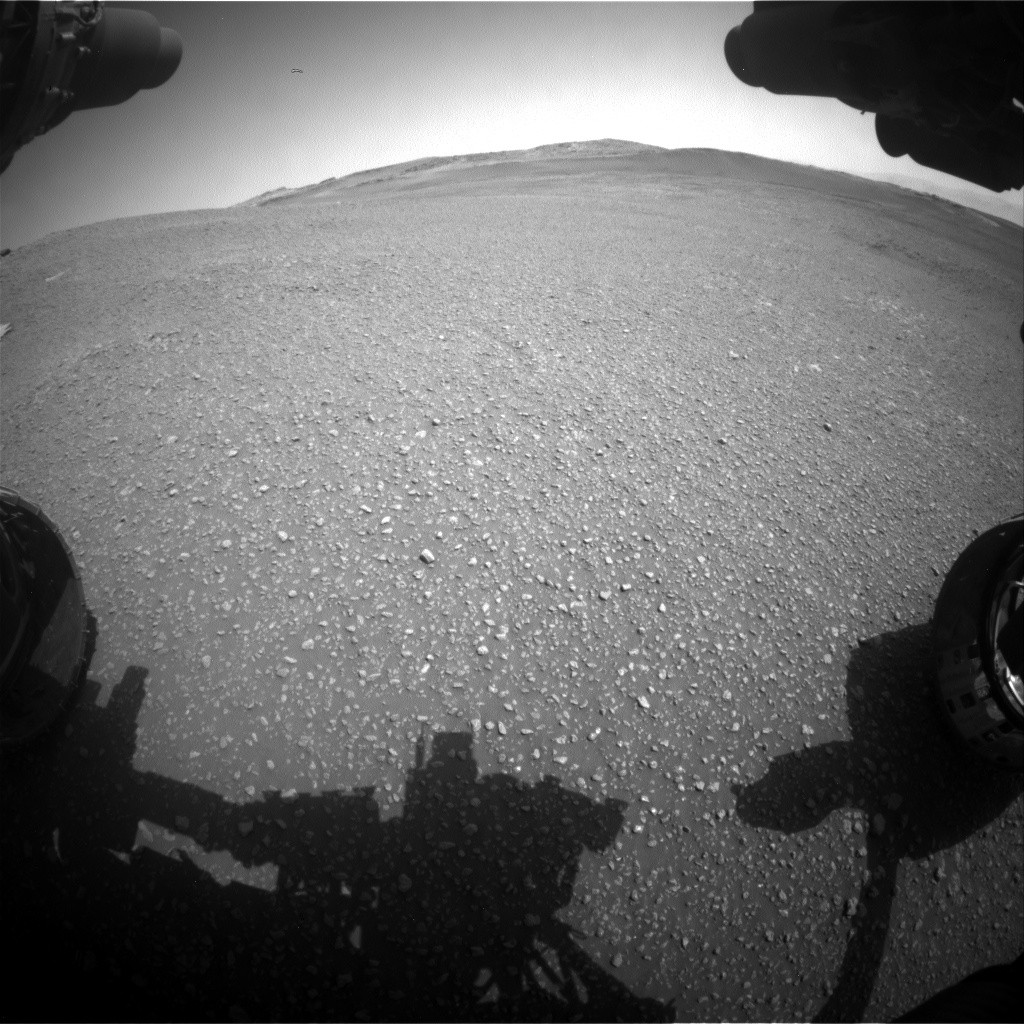 Nasa's Mars rover Curiosity acquired this image using its Front Hazard Avoidance Camera (Front Hazcam) on Sol 2447, at drive 1072, site number 76