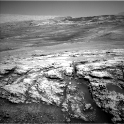 Nasa's Mars rover Curiosity acquired this image using its Left Navigation Camera on Sol 2447, at drive 994, site number 76