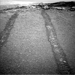 Nasa's Mars rover Curiosity acquired this image using its Left Navigation Camera on Sol 2447, at drive 1030, site number 76